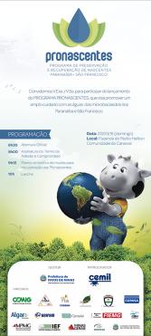 Folder programa Pronascentes - ODS parceiro e apoiador